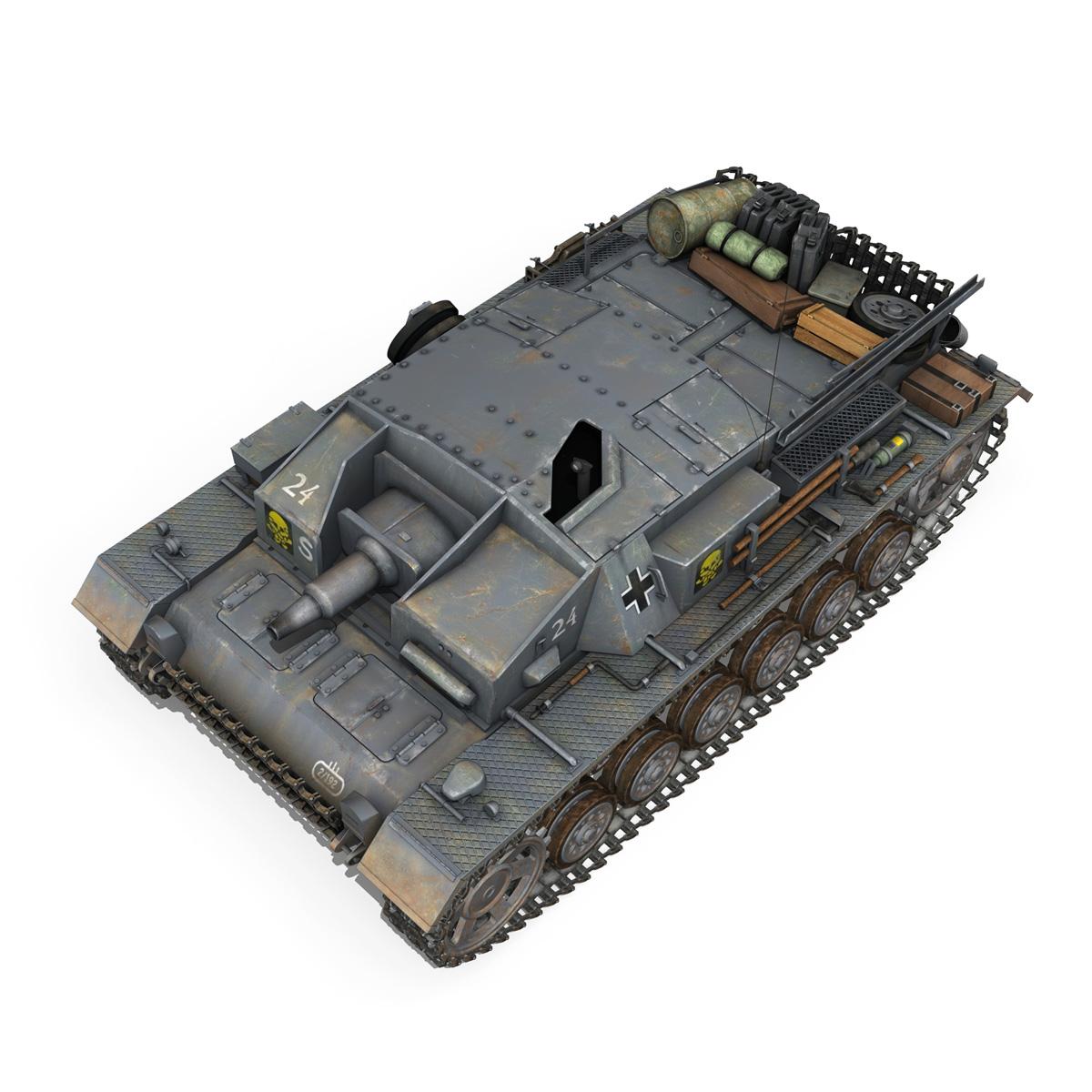 stug iii – ausf.d – stug.abt. 192 3d model 3ds fbx c4d lwo obj 197024