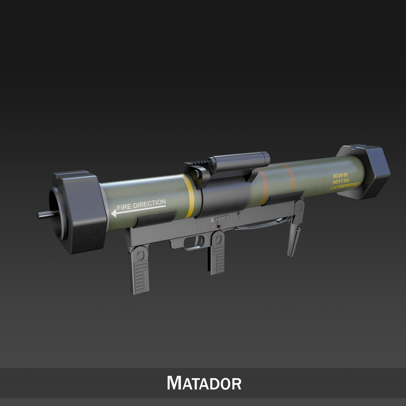 anti-armor launcher matador 3d model 3ds fbx c4d lwo obj 197068