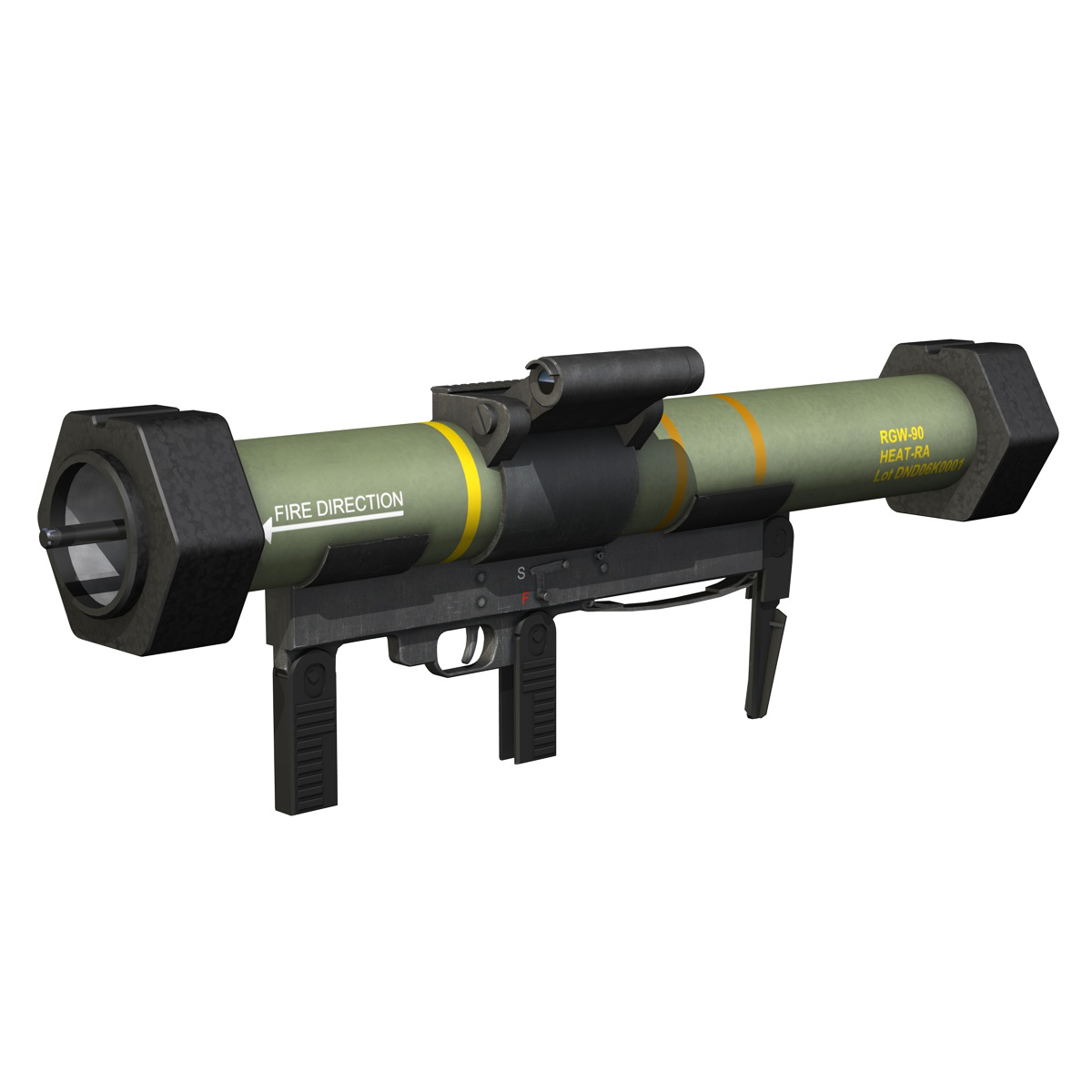 anti-armor launcher matador 3d model 3ds fbx c4d lwo obj 197074