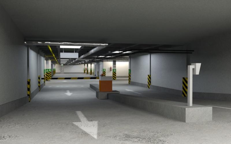 Underground Parking Garage D Model Sample