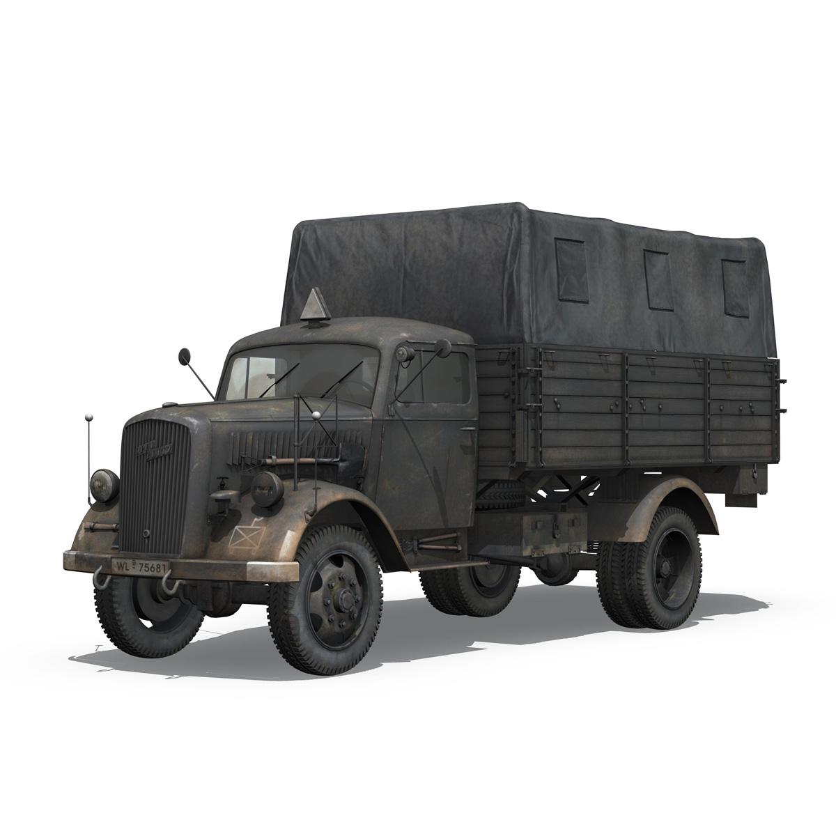 blitz opel - lori cargo 3t - 17 pzdiv model 3d 3ds fbx c4d lwo obj 197197
