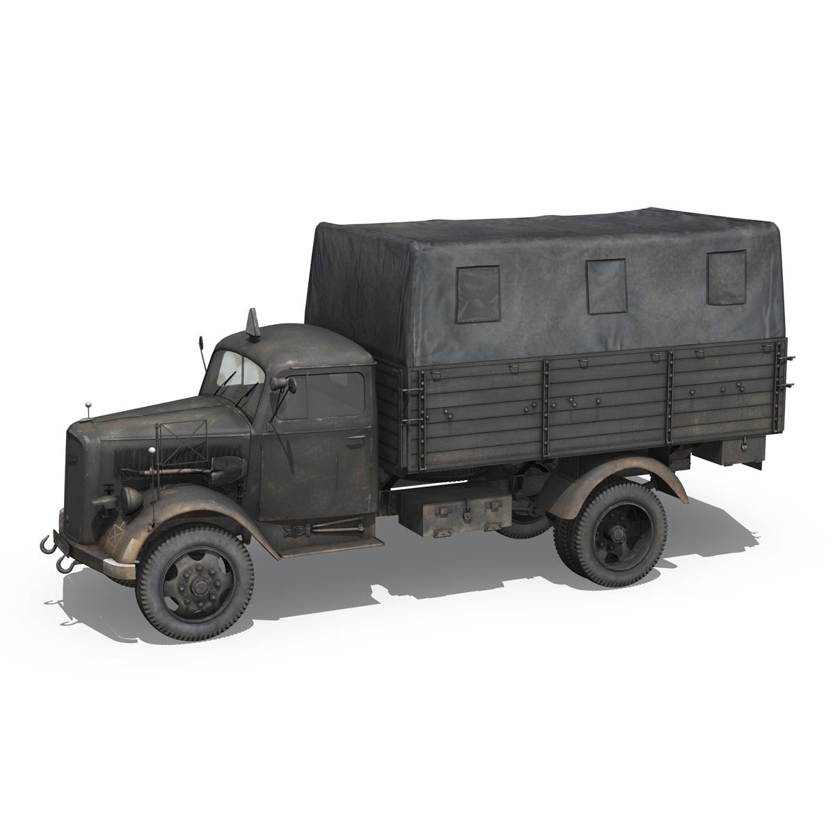 blitz opel - lori cargo 3t - 17 pzdiv model 3d 3ds fbx c4d lwo obj 197198