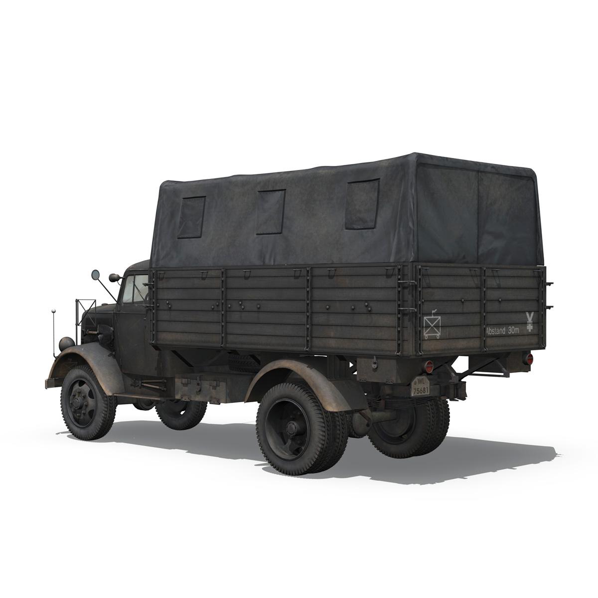 blitz opel - lori cargo 3t - 17 pzdiv model 3d 3ds fbx c4d lwo obj 197199