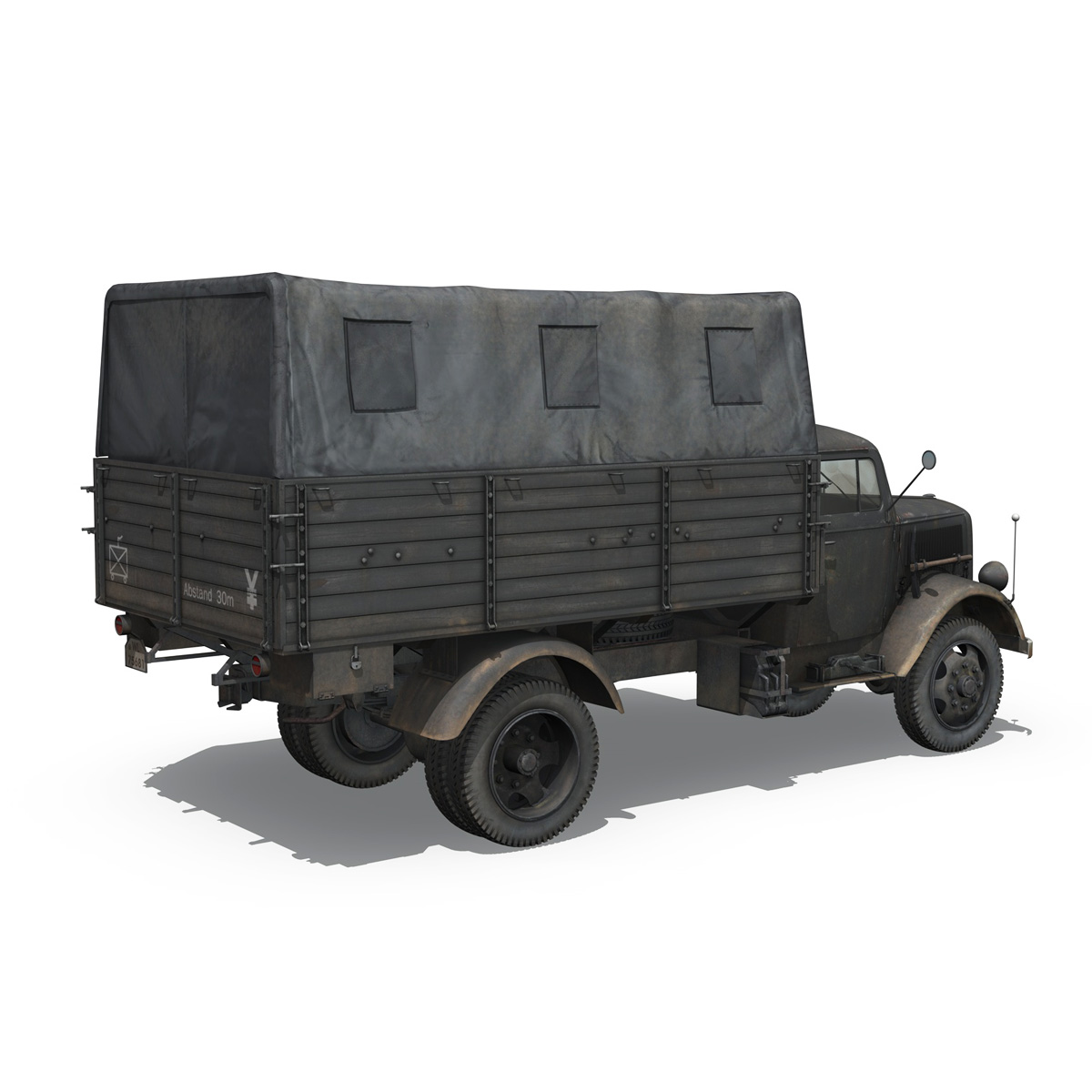 blitz opel - lori cargo 3t - 17 pzdiv model 3d 3ds fbx c4d lwo obj 197200