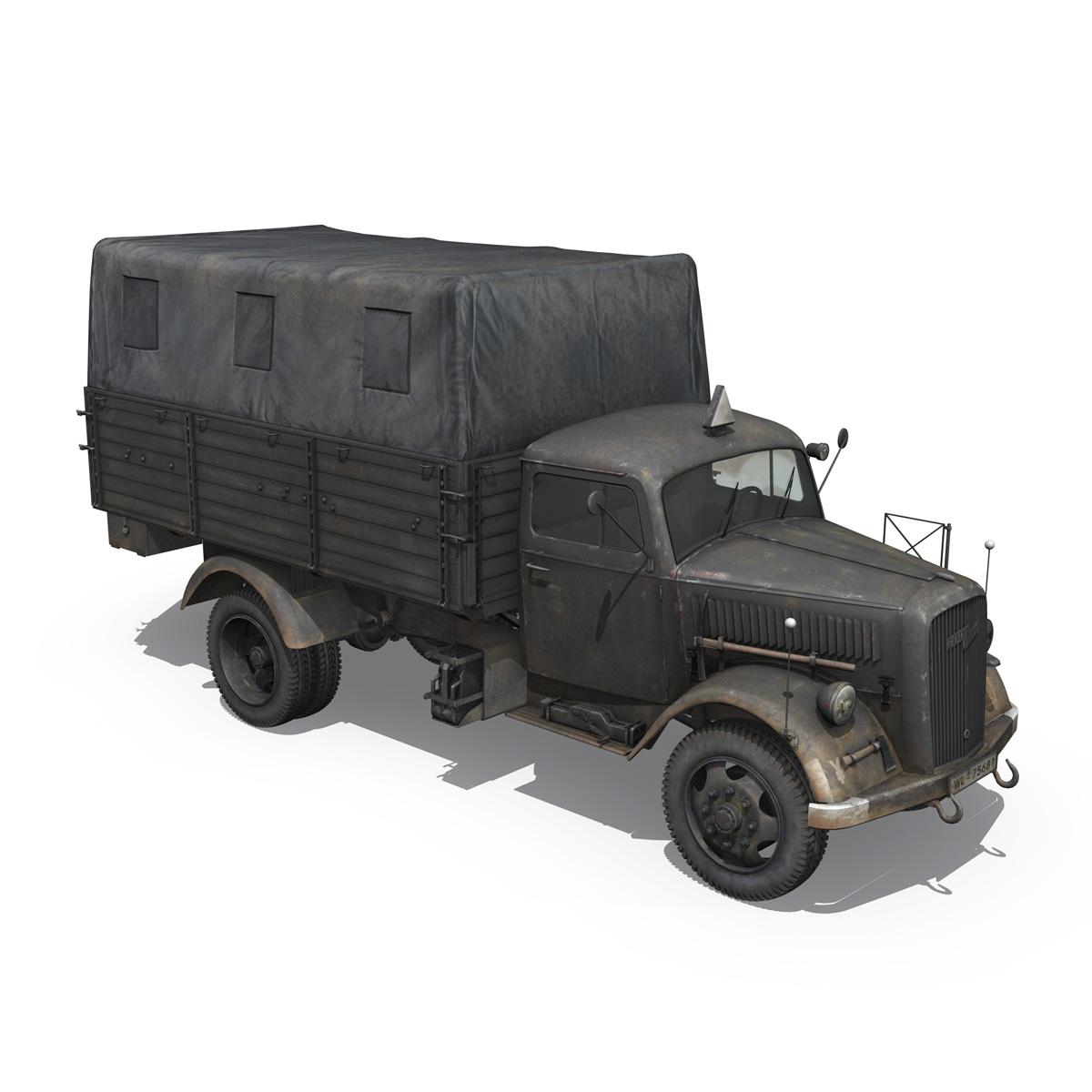 blitz opel - lori cargo 3t - 17 pzdiv model 3d 3ds fbx c4d lwo obj 197201