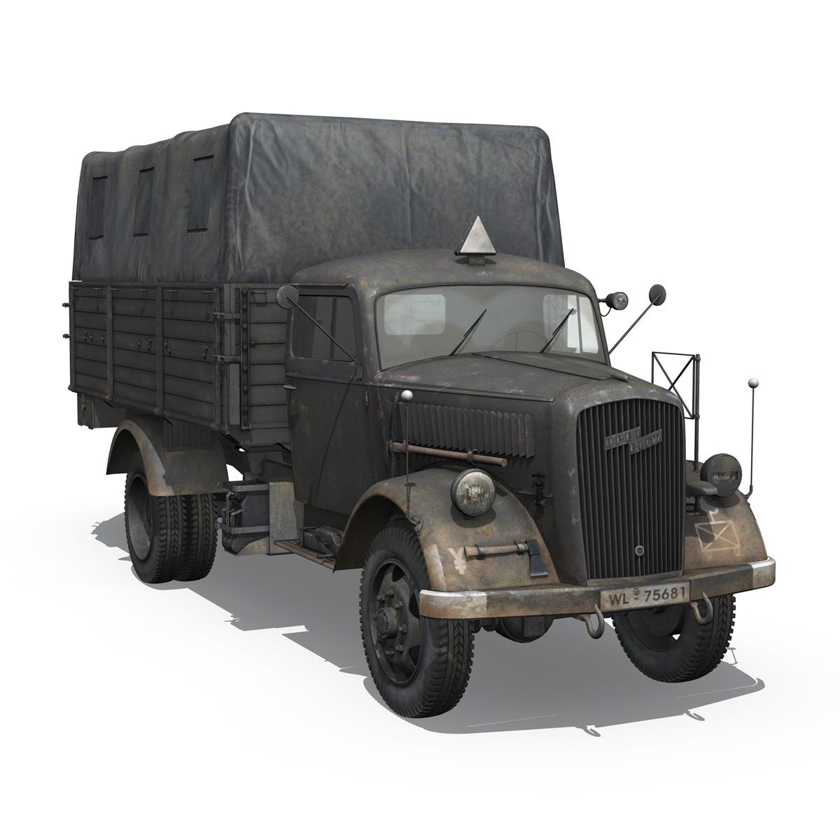 blitz opel - lori cargo 3t - 17 pzdiv model 3d 3ds fbx c4d lwo obj 197202