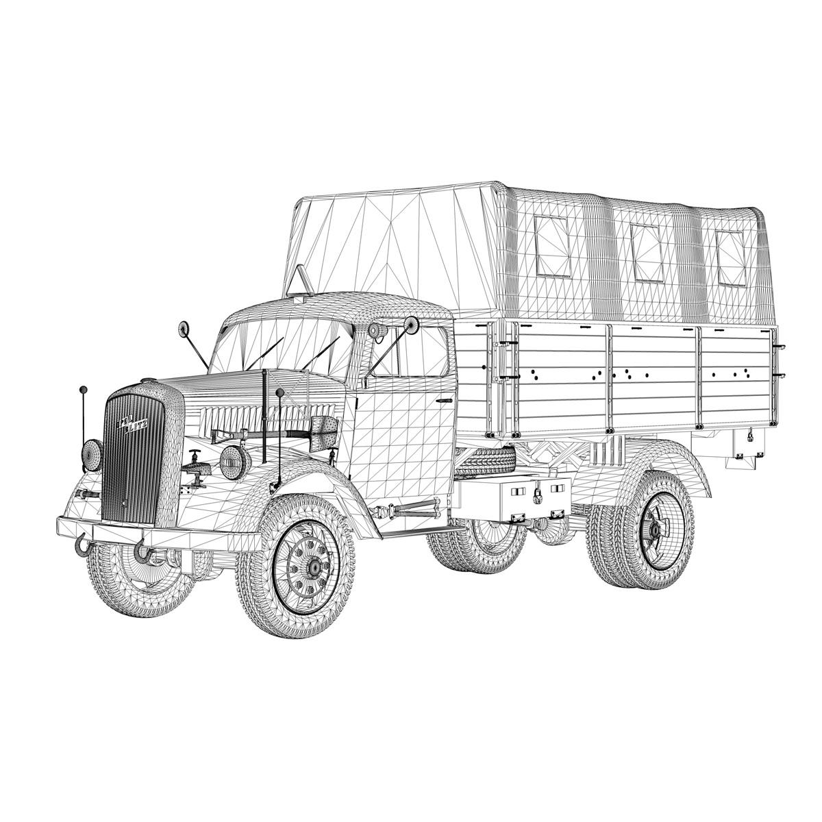 blitz opel - lori cargo 3t - 17 pzdiv model 3d 3ds fbx c4d lwo obj 197205