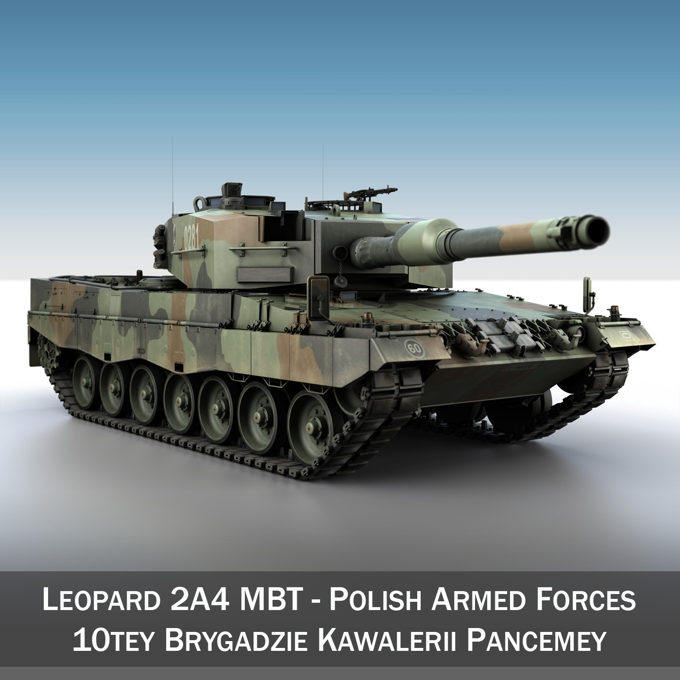 leopard 2a4 mbt – polish army 1 3d model 3ds fbx c4d lwo obj 197271