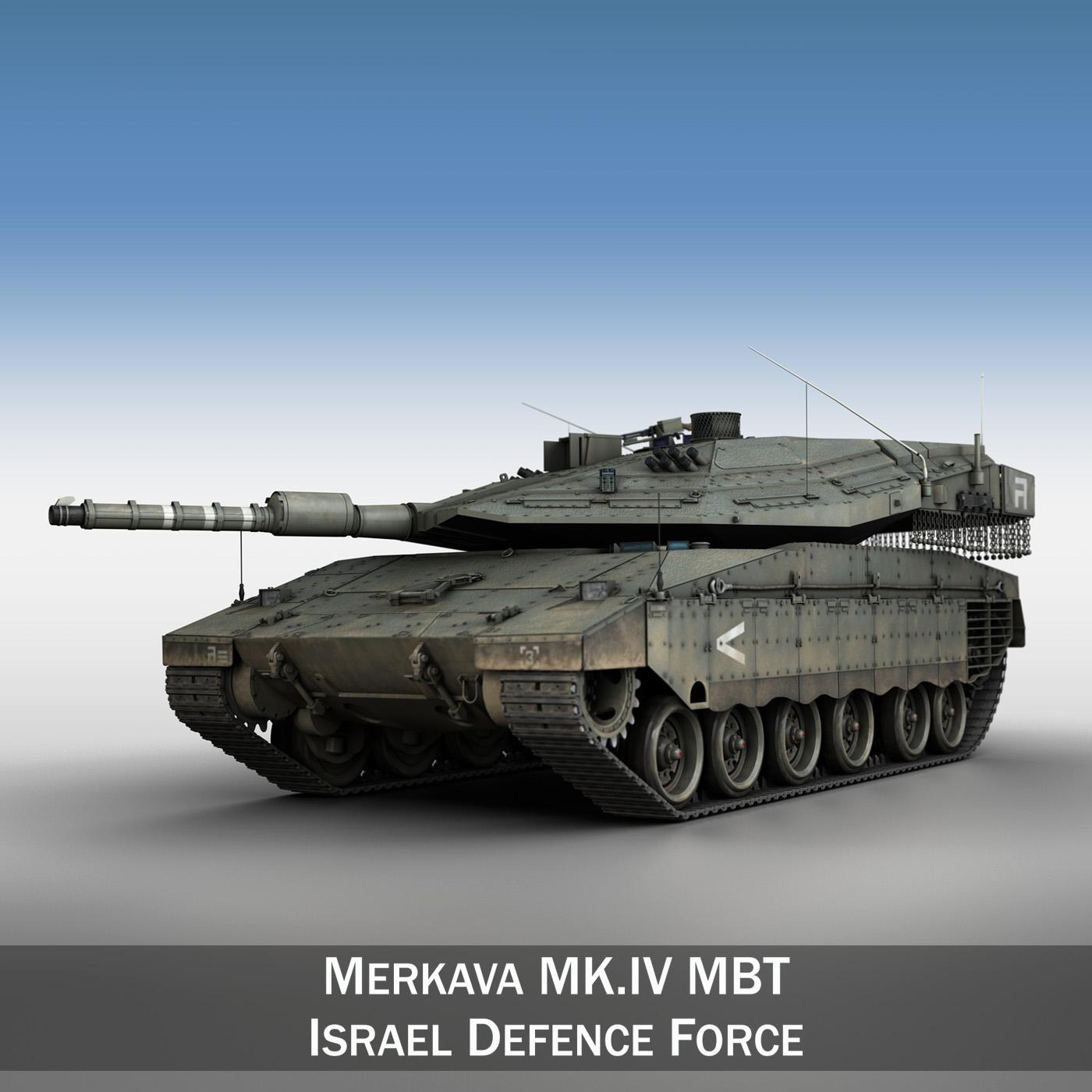 merkava iv – israel defense forces 3d model 3ds fbx c4d lwo obj 197343