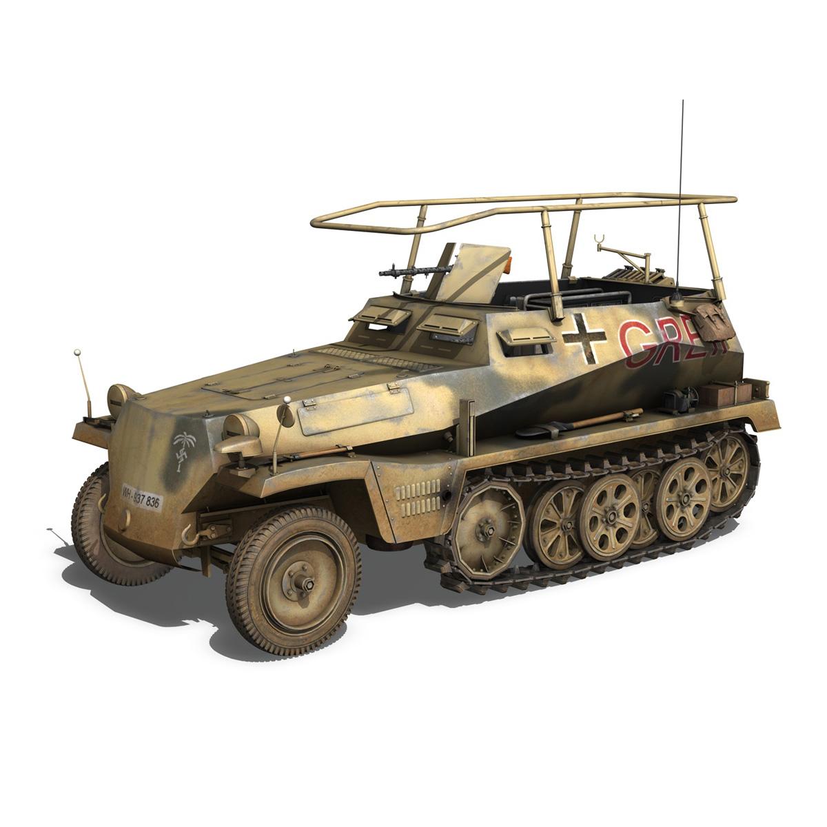 sd.kfz 250/3 – greif – half-track command variant 3d model 3ds fbx c4d lwo obj 197589