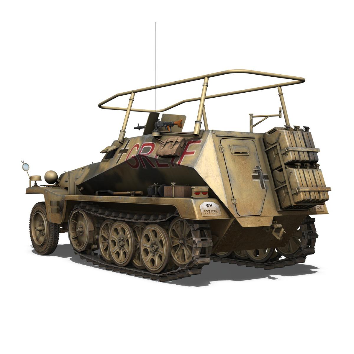 sd.kfz 250/3 – greif – half-track command variant 3d model 3ds fbx c4d lwo obj 197591