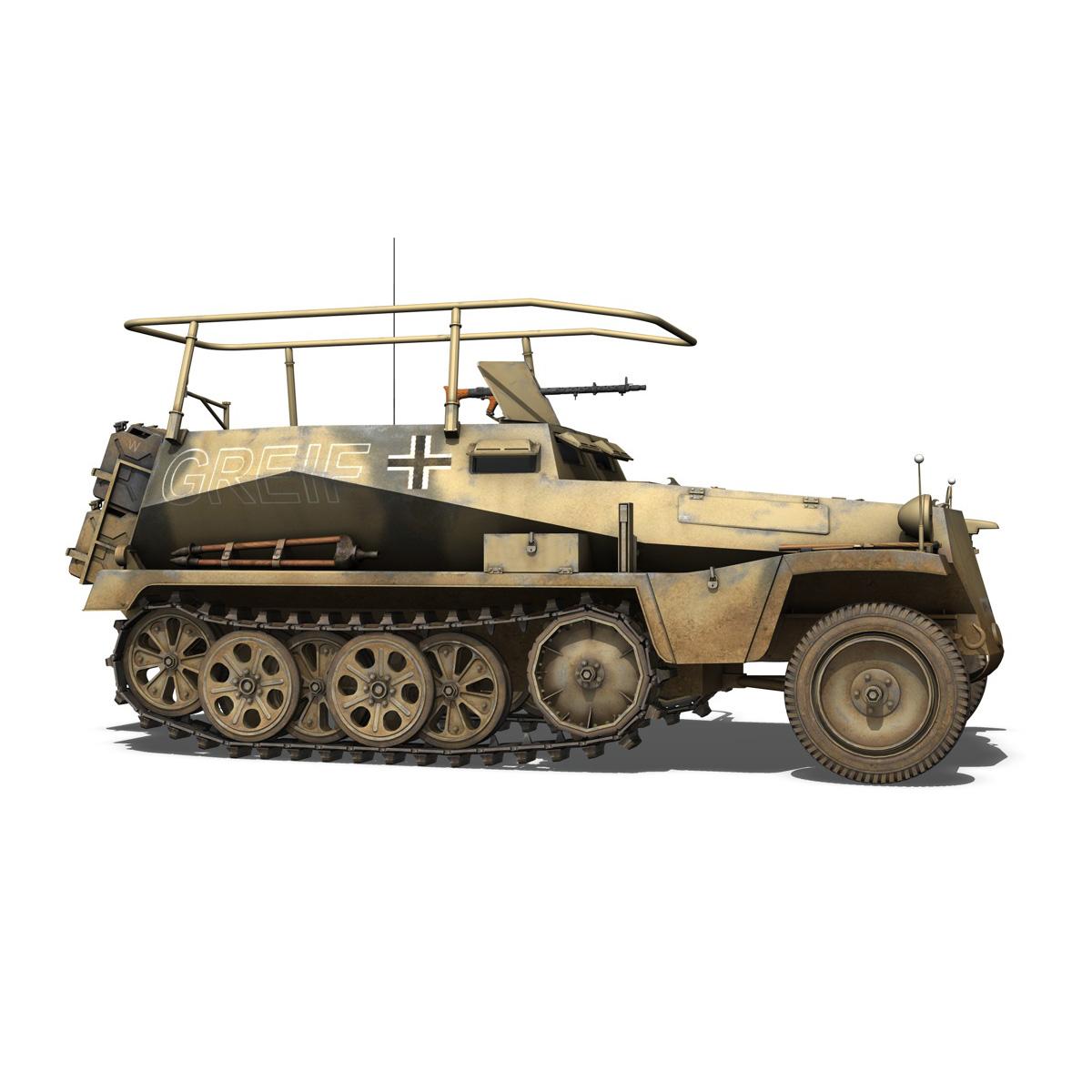 sd.kfz 250/3 – greif – half-track command variant 3d model 3ds fbx c4d lwo obj 197592