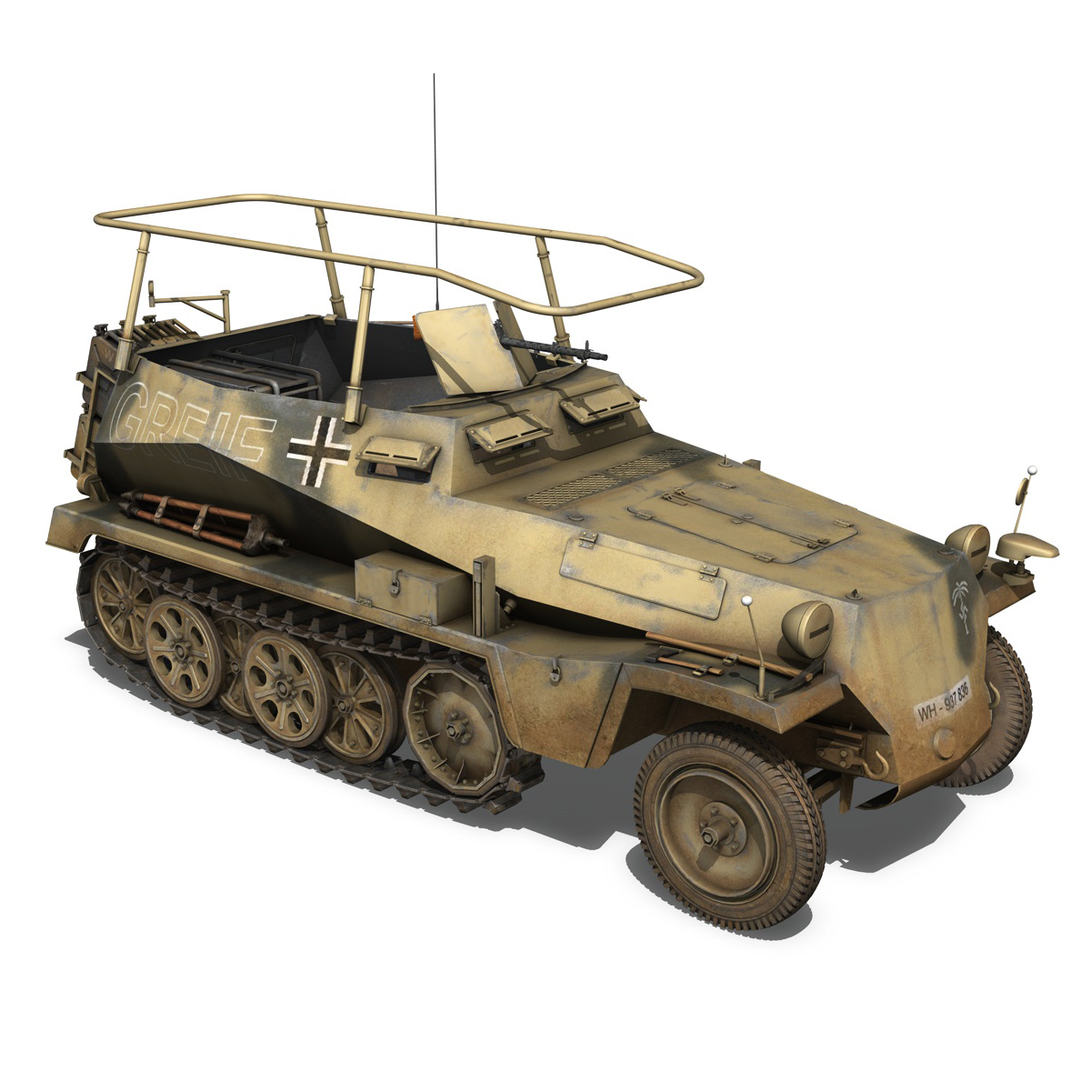 sd.kfz 250/3 – greif – half-track command variant 3d model 3ds fbx c4d lwo obj 197593