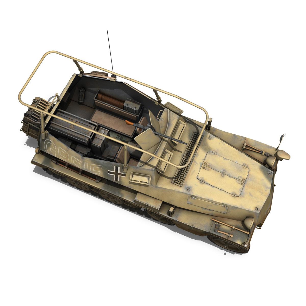 sd.kfz 250/3 – greif – half-track command variant 3d model 3ds fbx c4d lwo obj 197594