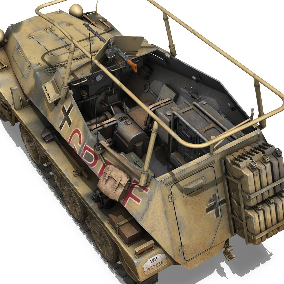 sd.kfz 250/3 – greif – half-track command variant 3d model 3ds fbx c4d lwo obj 197595