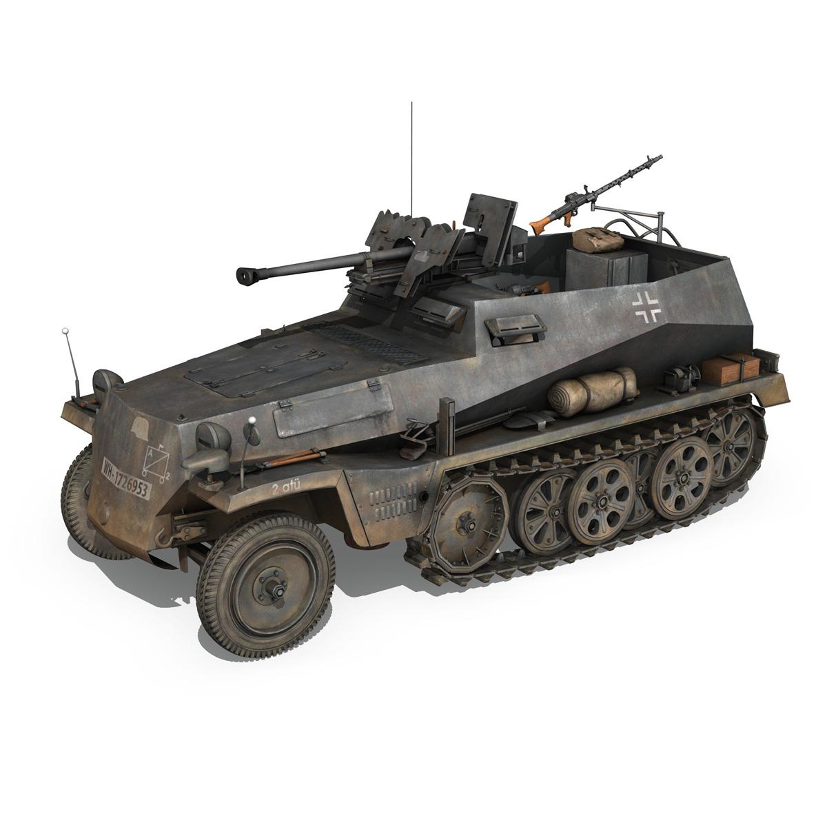 sd.kfz 250/11 – halftruck with spzb 41 – pzgrendiv 3d model 3ds fbx c4d lwo obj 197649