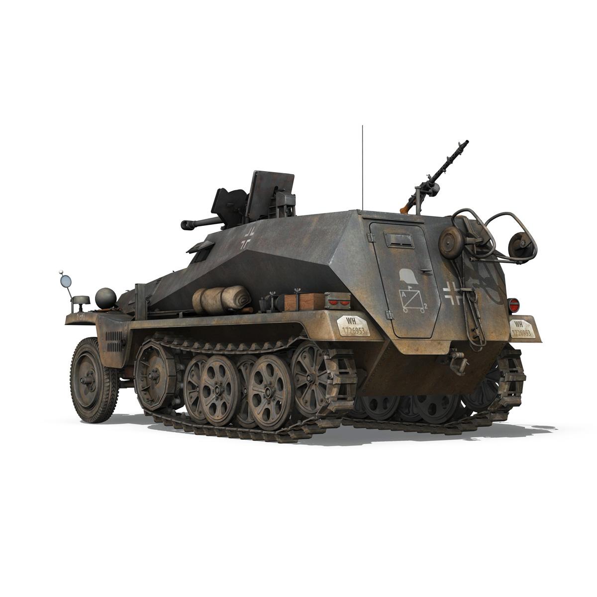 sd.kfz 250/11 – halftruck with spzb 41 – pzgrendiv 3d model 3ds fbx c4d lwo obj 197650