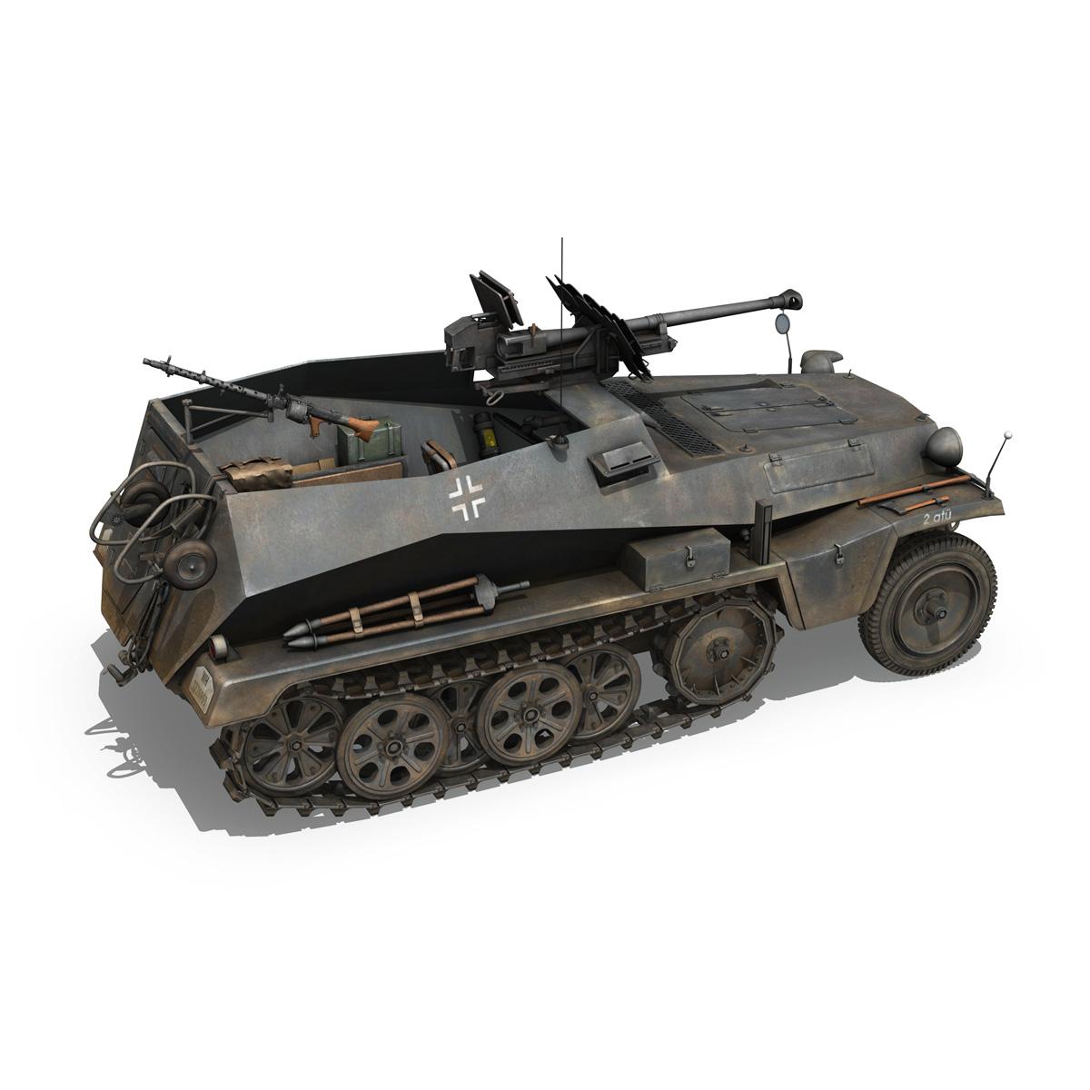sd.kfz 250/11 – halftruck with spzb 41 – pzgrendiv 3d model 3ds fbx c4d lwo obj 197651