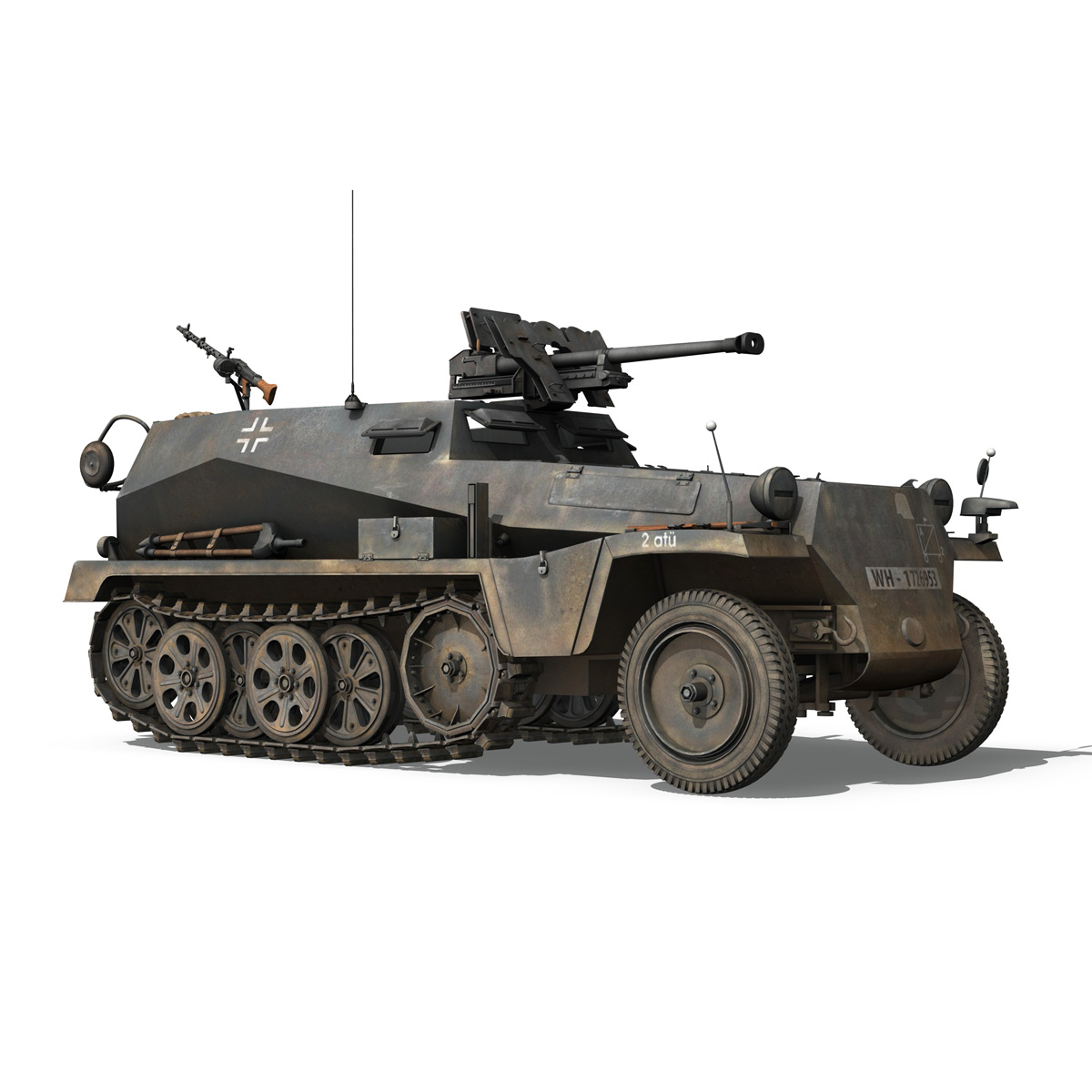 sd.kfz 250/11 – halftruck with spzb 41 – pzgrendiv 3d model 3ds fbx c4d lwo obj 197652