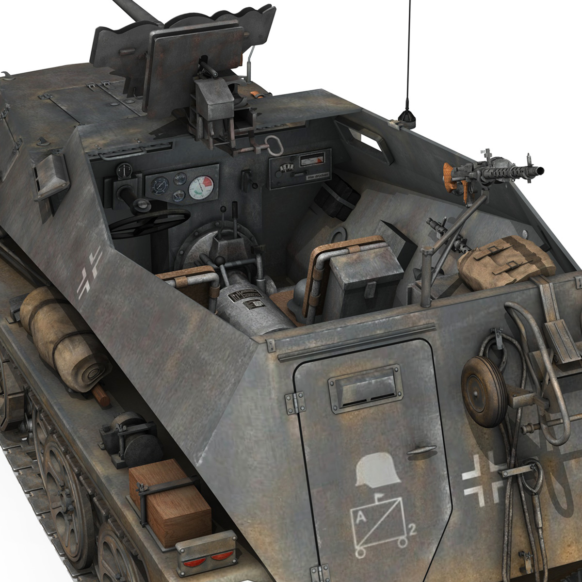 sd.kfz 250/11 – halftruck with spzb 41 – pzgrendiv 3d model 3ds fbx c4d lwo obj 197654