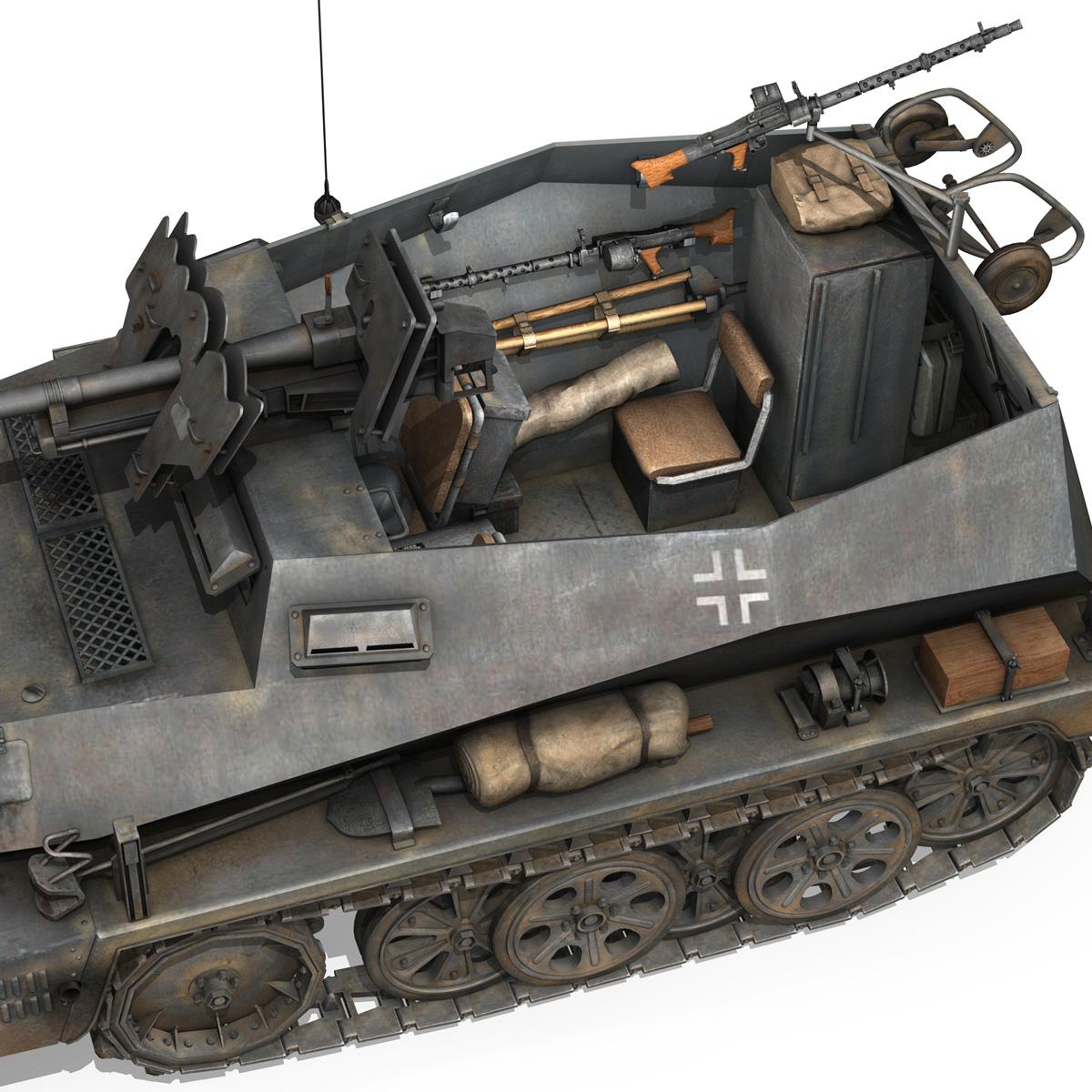 sd.kfz 250/11 – halftruck with spzb 41 – pzgrendiv 3d model 3ds fbx c4d lwo obj 197655