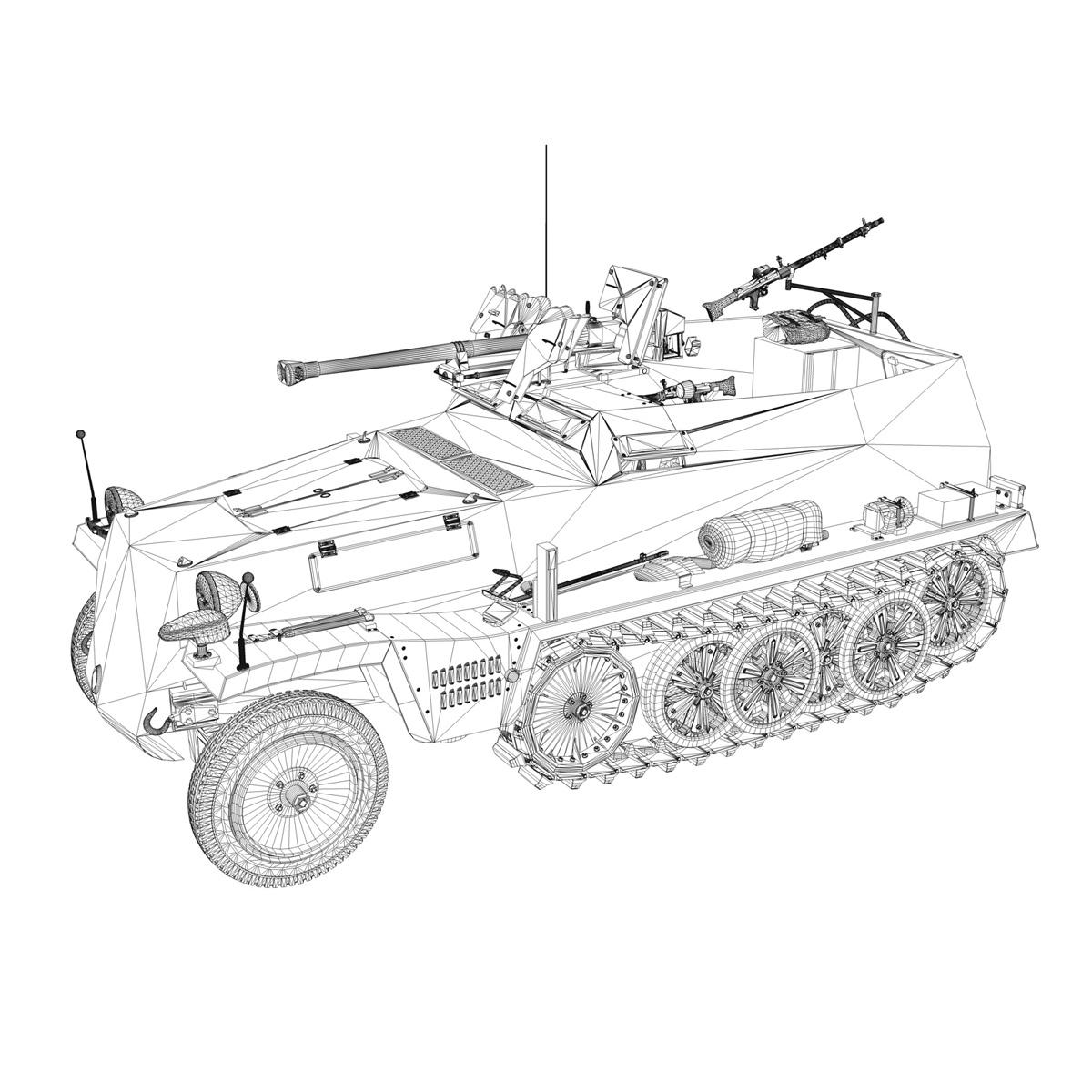 sd.kfz 250/11 – halftruck with spzb 41 – pzgrendiv 3d model 3ds fbx c4d lwo obj 197657