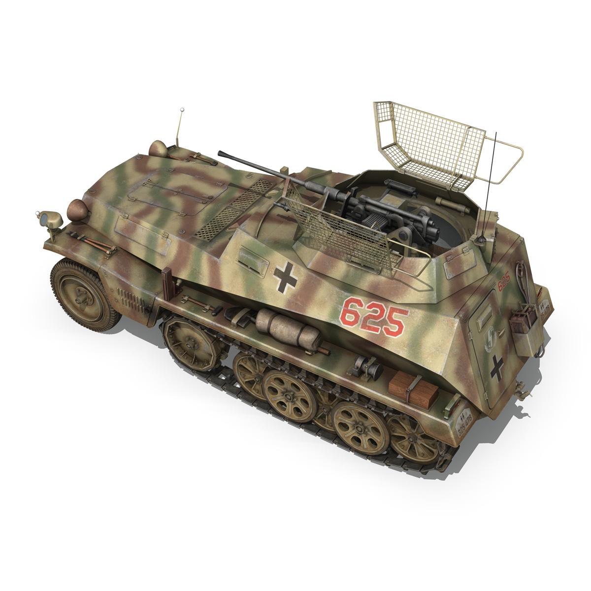 sd.kfz 250 9 – half-track armored vehicle 3d model 3ds fbx c4d lwo obj 198215