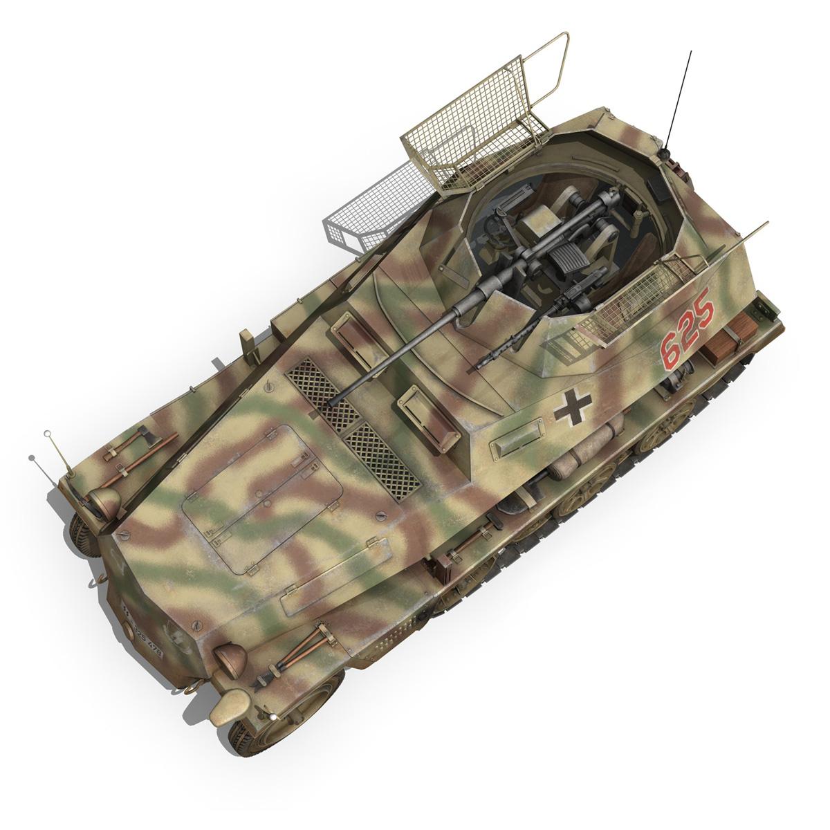 sd.kfz 250 9 – half-track armored vehicle 3d model 3ds fbx c4d lwo obj 198218