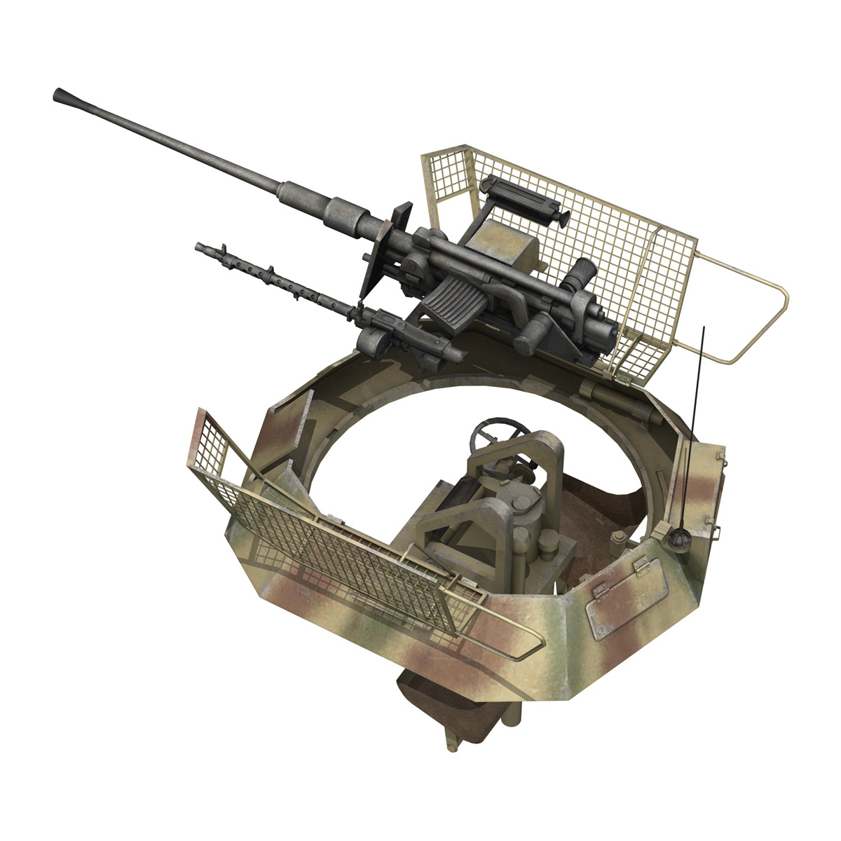 sd.kfz 250 9 – half-track armored vehicle 3d model 3ds fbx c4d lwo obj 198220