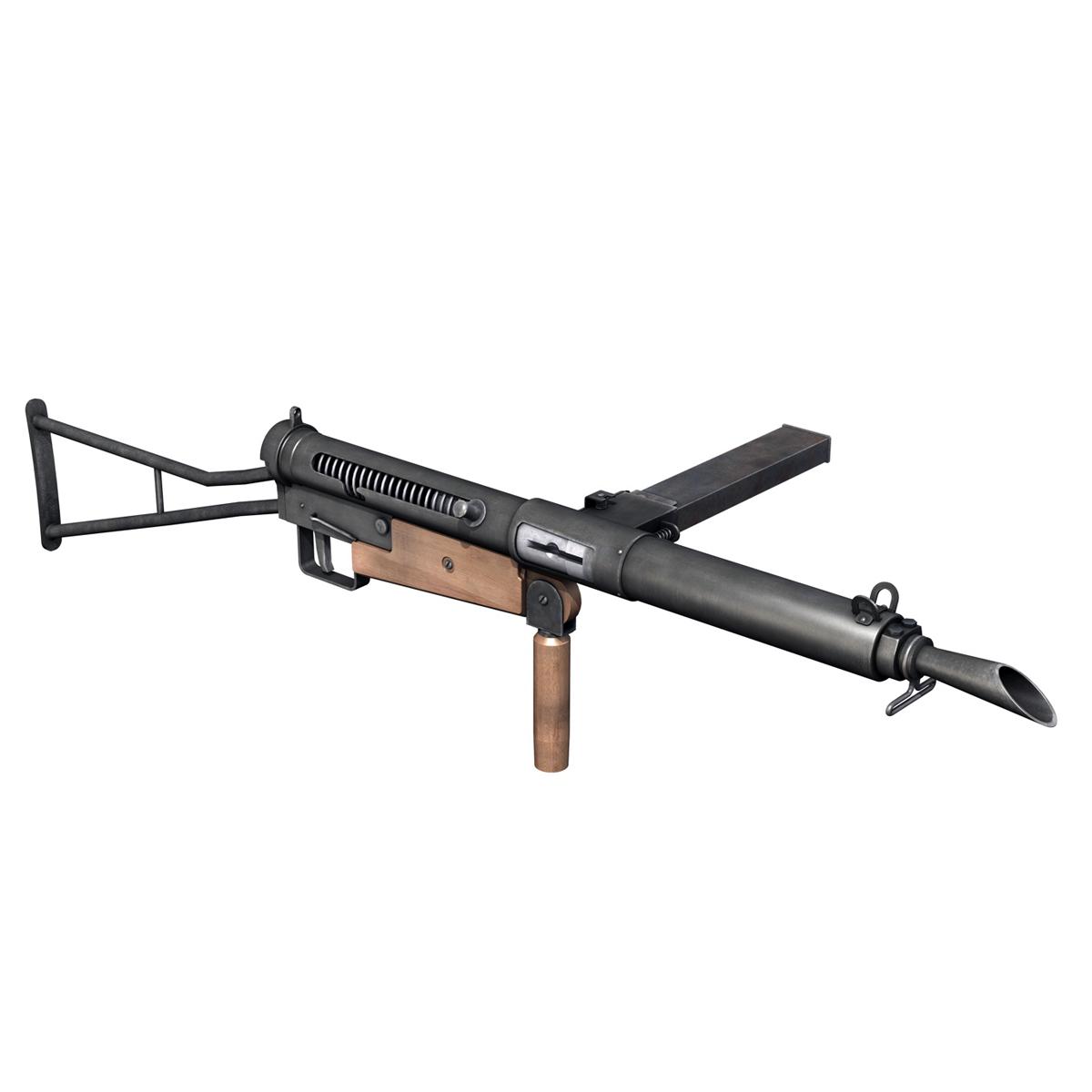 sten submachine gun – collection 3d model 3ds fbx c4d lwo obj 199296