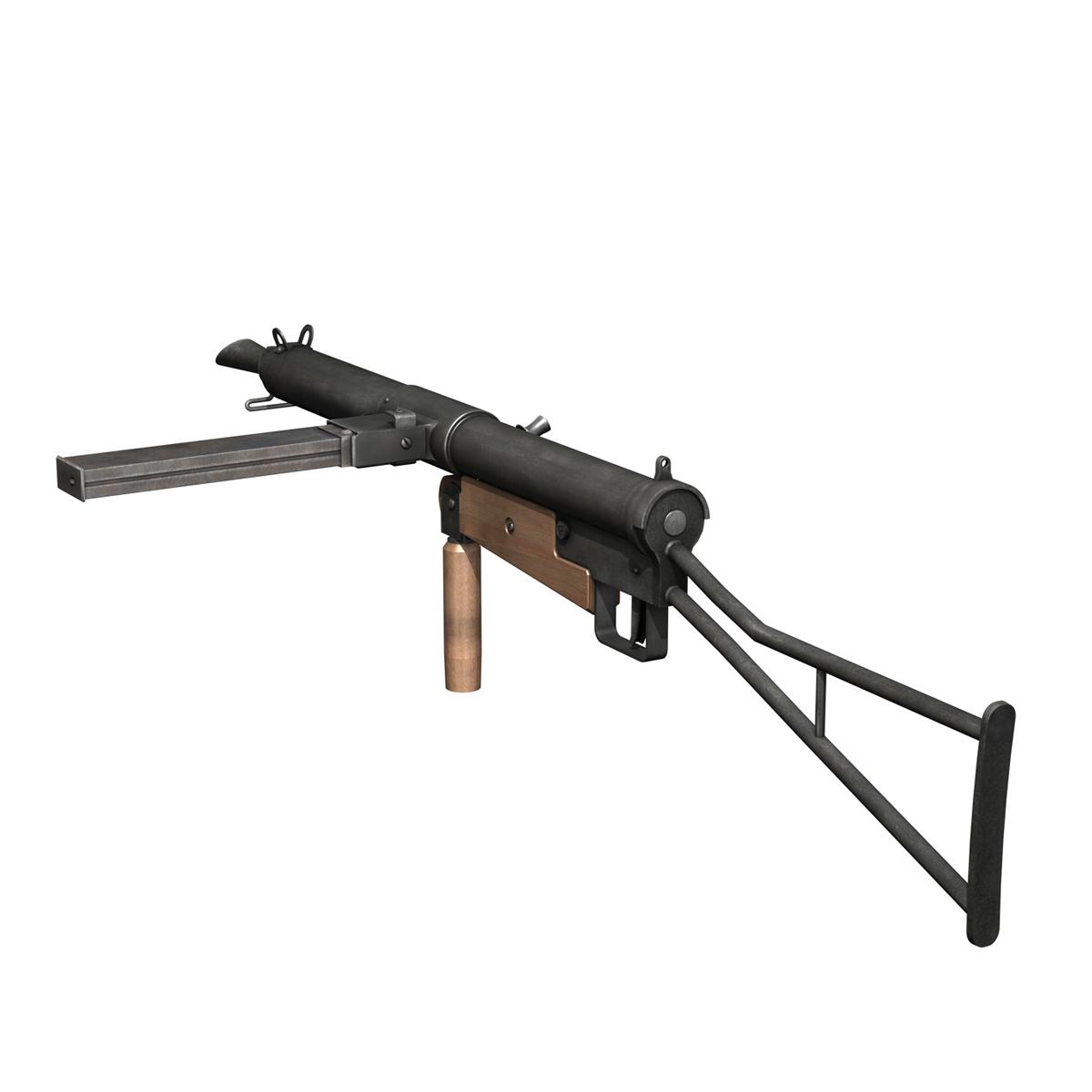 sten submachine gun – collection 3d model 3ds fbx c4d lwo obj 199297