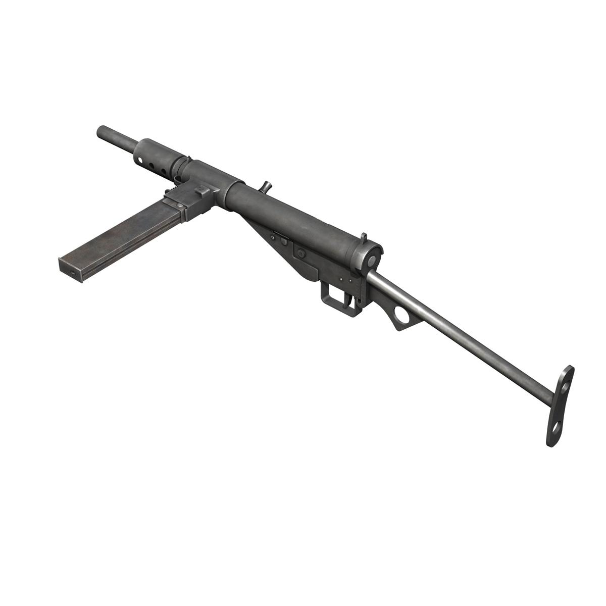 sten submachine gun – collection 3d model 3ds fbx c4d lwo obj 199299