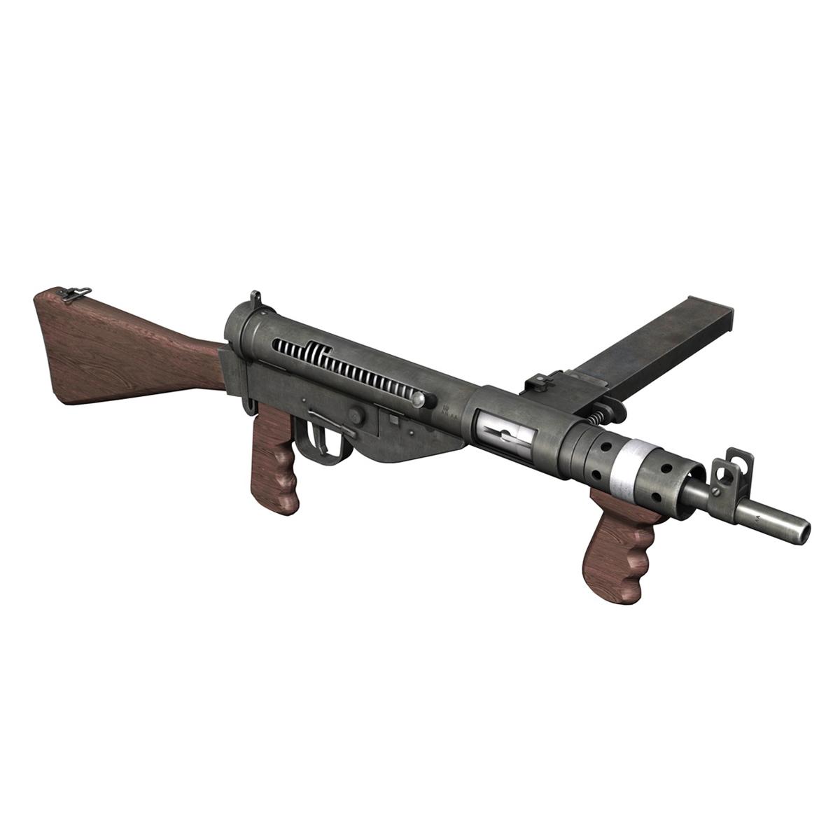 sten submachine gun – collection 3d model 3ds fbx c4d lwo obj 199303