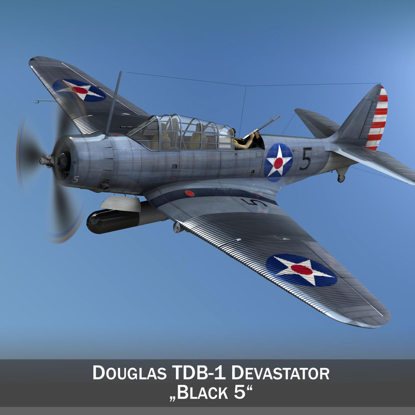 douglas db-1 devastator model 3d 3ds fbx c4d lwo obj 199937