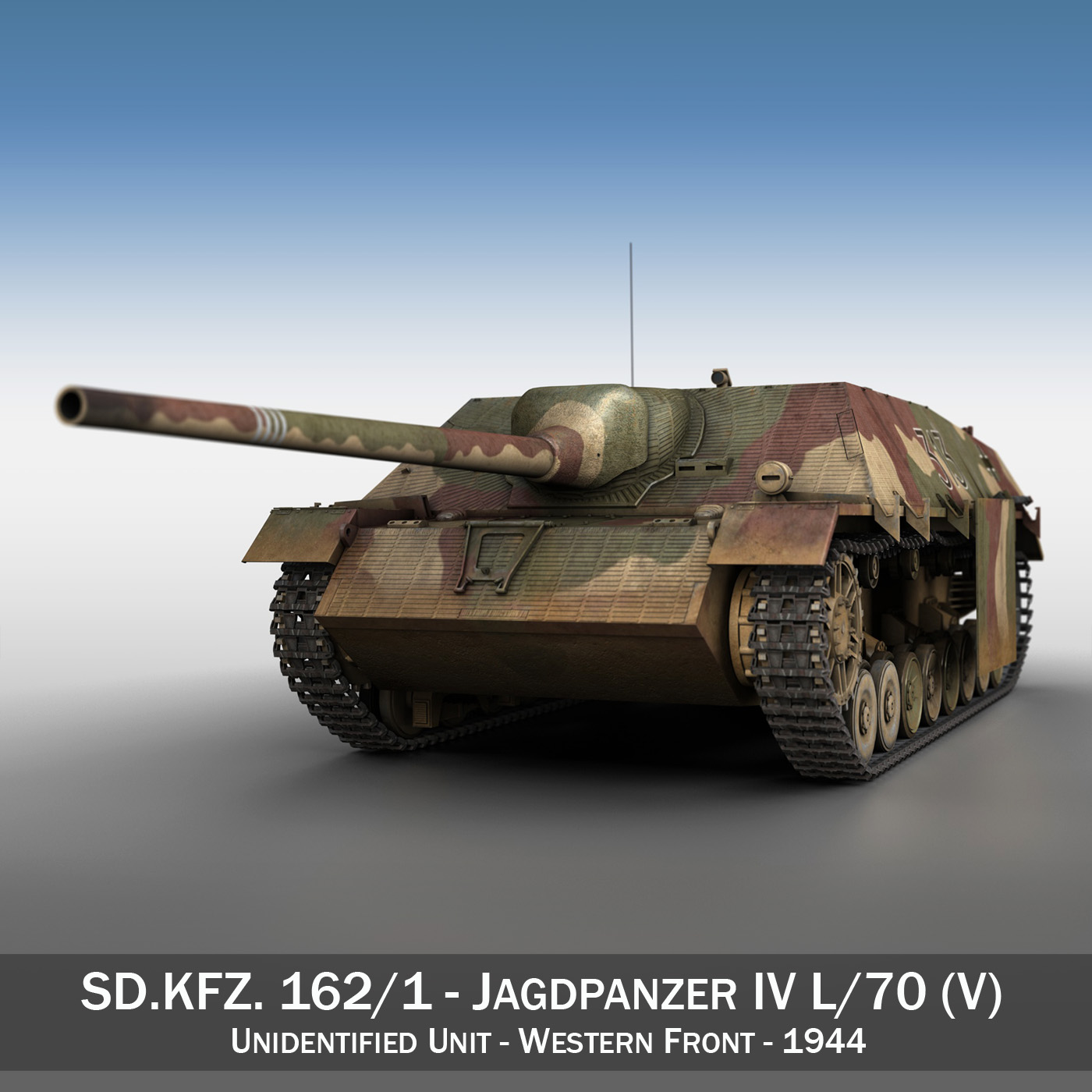 jagdpanzer iv l70 v late production 3d model 3ds fbx c4d lwo obj 200289