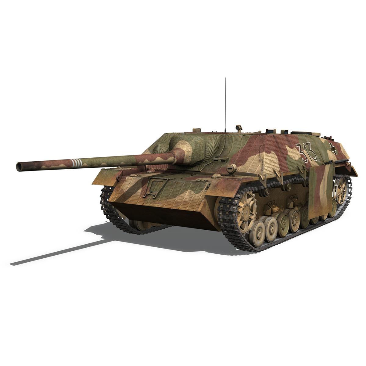 jagdpanzer iv l70 v cynhyrchu hwyr Model 3d 3ds fbx c4d lwo obj 200290