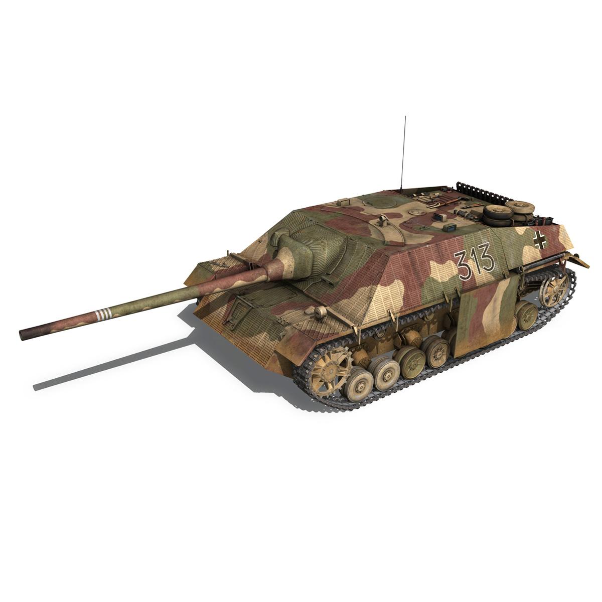 jagdpanzer iv l70 v cynhyrchu hwyr Model 3d 3ds fbx c4d lwo obj 200291