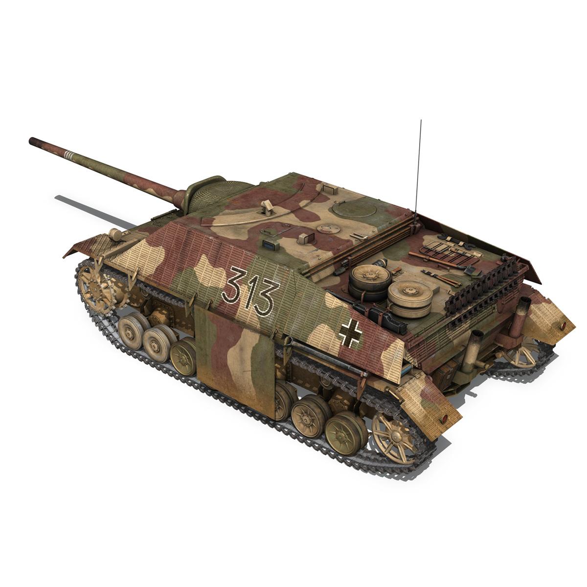 jagdpanzer iv l70 v cynhyrchu hwyr Model 3d 3ds fbx c4d lwo obj 200292