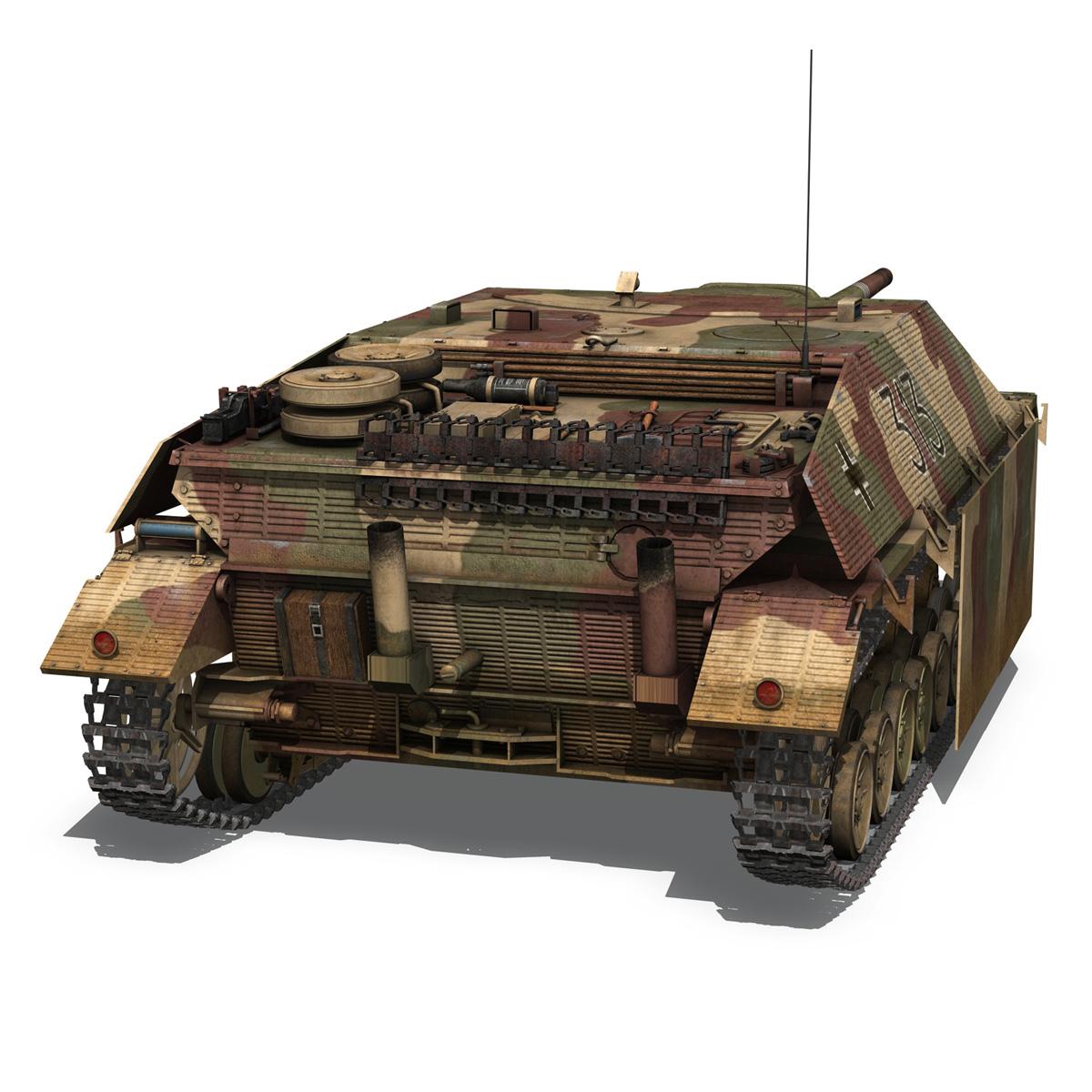 jagdpanzer iv l70 v cynhyrchu hwyr Model 3d 3ds fbx c4d lwo obj 200293