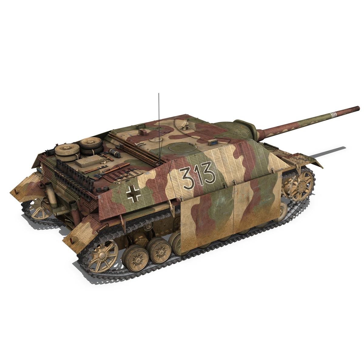 jagdpanzer iv l70 v cynhyrchu hwyr Model 3d 3ds fbx c4d lwo obj 200294