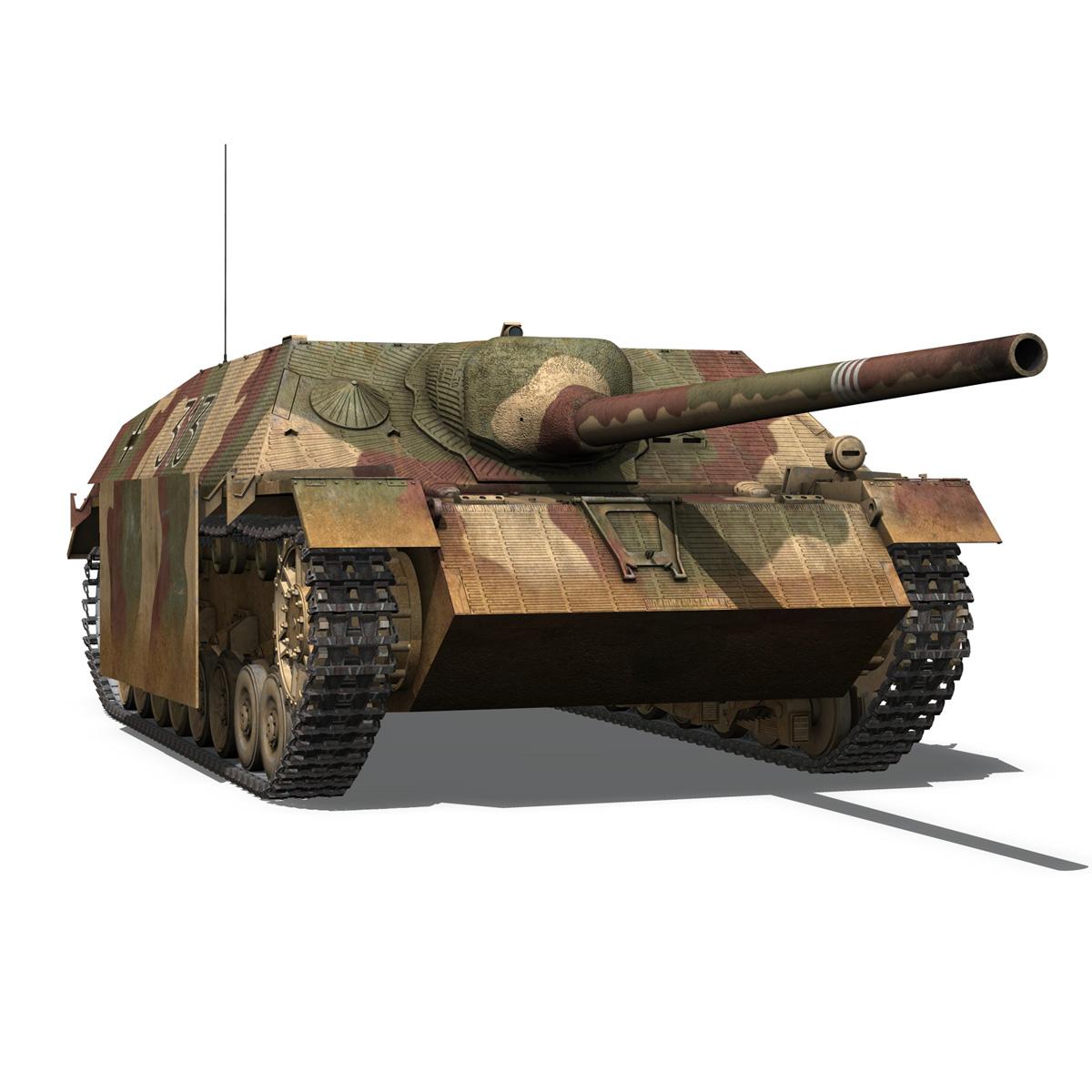 jagdpanzer iv l70 v cynhyrchu hwyr Model 3d 3ds fbx c4d lwo obj 200295