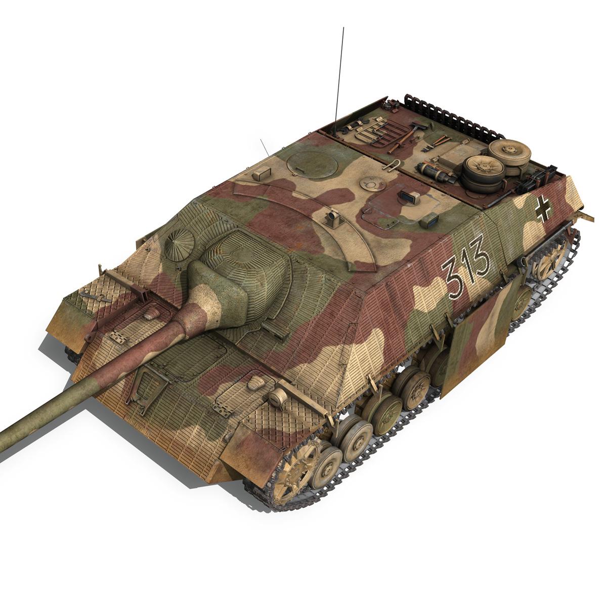 jagdpanzer iv l70 v cynhyrchu hwyr Model 3d 3ds fbx c4d lwo obj 200296