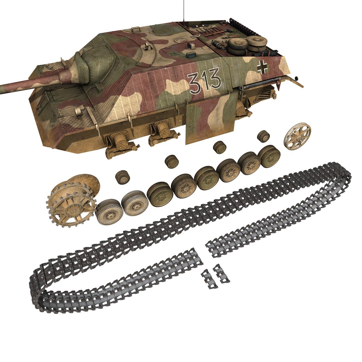 jagdpanzer iv l70 v cynhyrchu hwyr Model 3d 3ds fbx c4d lwo obj 200297
