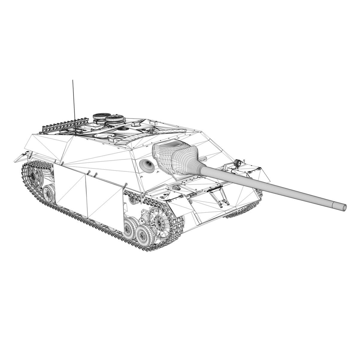 jagdpanzer iv l70 v cynhyrchu hwyr Model 3d 3ds fbx c4d lwo obj 200298