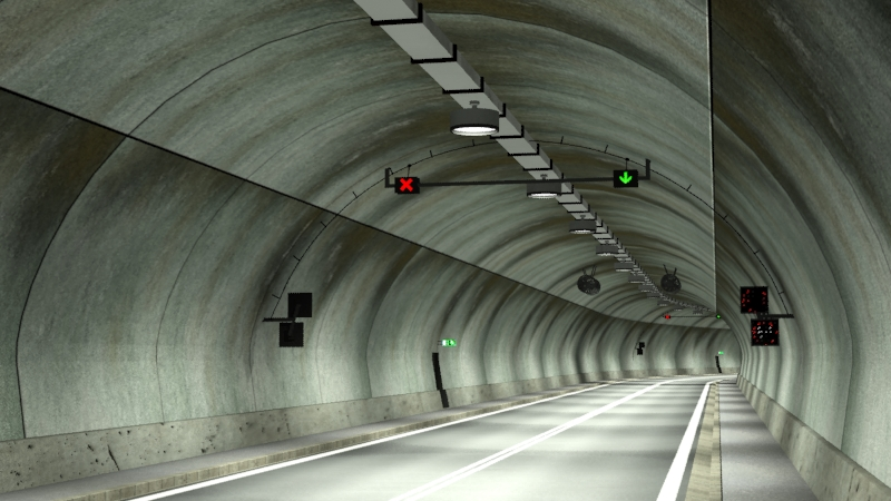 tileable road tunnel 02 3d model 3ds max fbx obj 200736