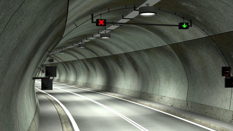 tileable road tunnel 02 3d model 3ds max fbx obj 200738