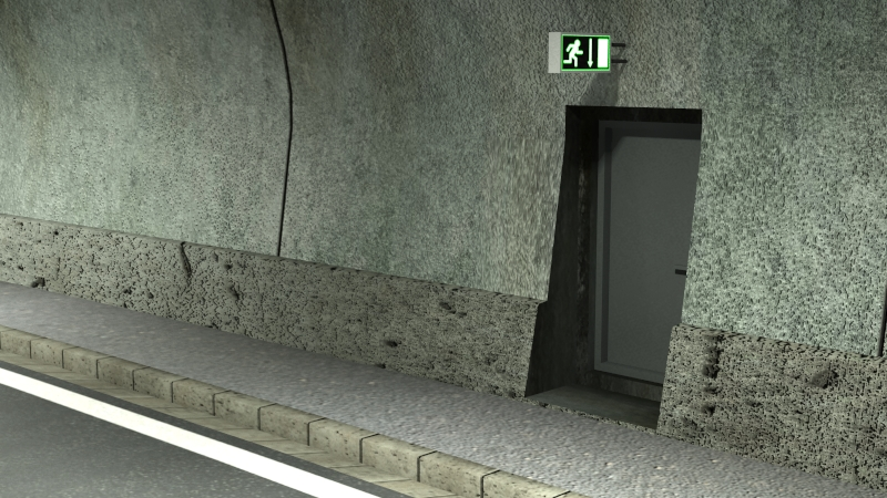 tileable road tunnel 02 3d model 3ds max fbx obj 200740