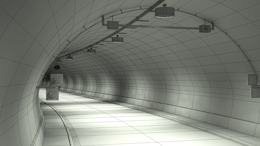tileable road tunnel 02 3d model 3ds max fbx obj 200743