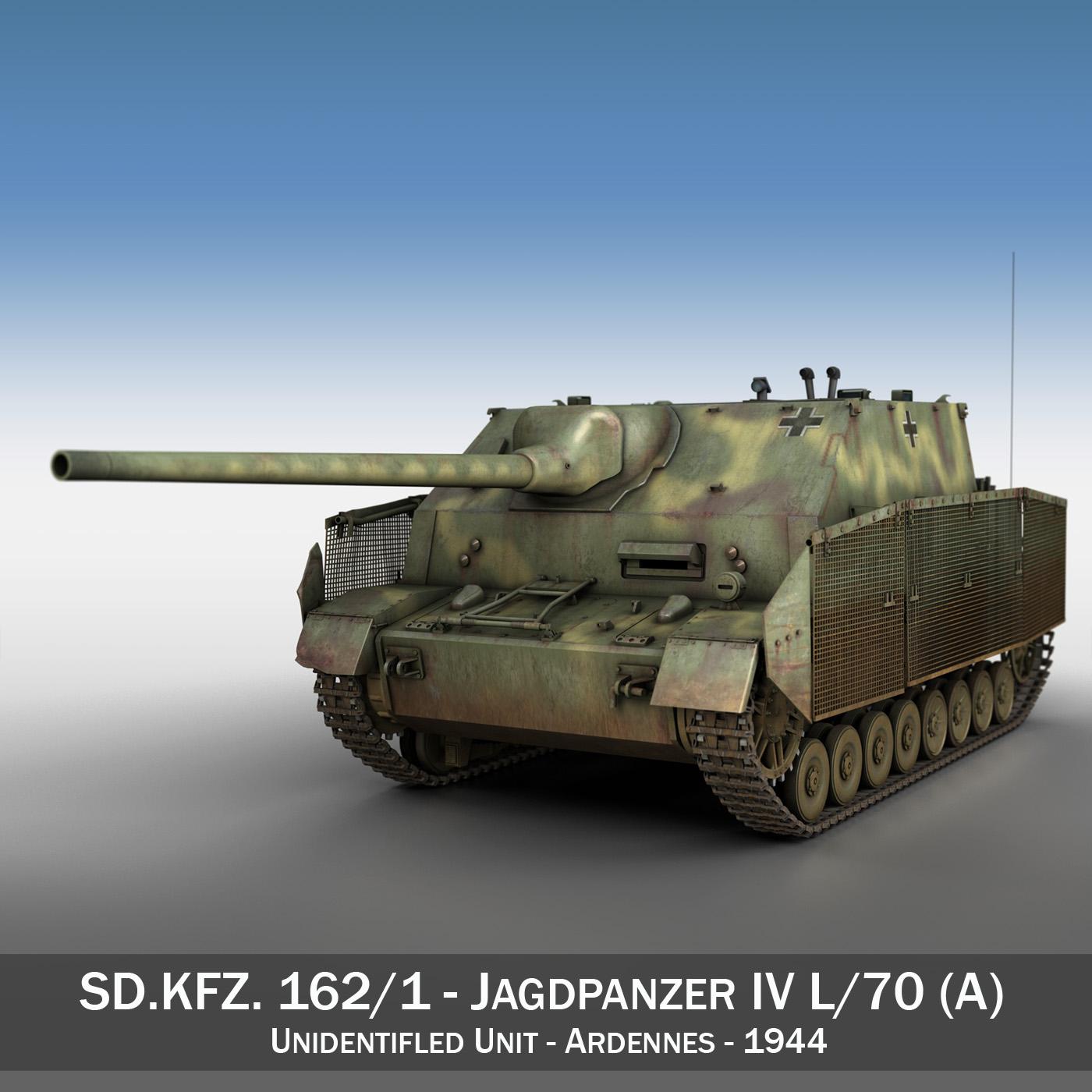 jagdpanzer iv l / 70 (a) Model 3d 3ds fbx c4d obj 200829
