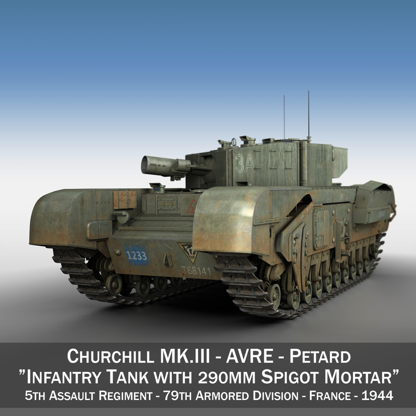 churchill mk.iii avre – 79 ad 3d model 3ds fbx c4d lwo obj 201004